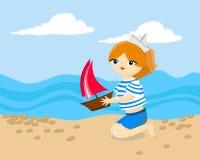 Uma menina no mar Imagem de Stock Royalty Free
