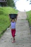Uma menina peruana em Indiana no Peru Fotografia de Stock