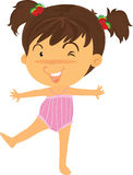 Uma menina que faz o exercício Imagem de Stock Royalty Free