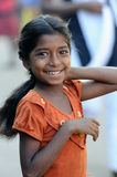 Uma menina suja com coração bonito Foto de Stock