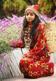 Uma menina tradicional de Darjeeling Fotos de Stock