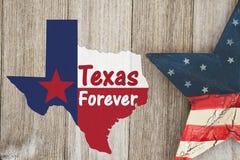 Uma mensagem velha rústica de Texas Forever foto de stock royalty free