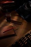 Uma mesa dos escritores. Imagens de Stock