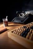 Uma mesa dos escritores. Foto de Stock Royalty Free