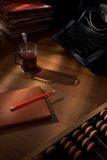 Uma mesa dos escritores. Fotografia de Stock