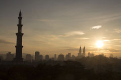 Uma mesquita Kuala Lumpur Imagens de Stock Royalty Free