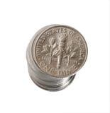 Uma moeda de dez centavos Imagem de Stock