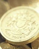Uma moeda de libra Fotos de Stock Royalty Free