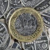 Uma moeda de libra - moeda britânica Fotografia de Stock