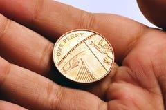 Uma moeda de um centavo Foto de Stock
