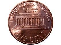 Uma moeda do centavo Imagem de Stock