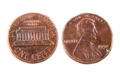 Uma moeda do dólar do centavo imagens de stock royalty free