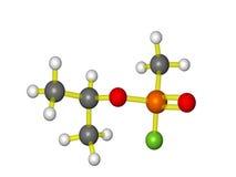 Uma molécula do sarin Fotografia de Stock