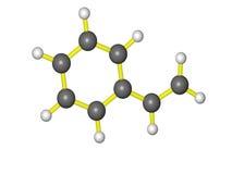 Uma molécula do styrene Foto de Stock