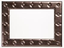 Uma moldura para retrato vazia no fundo branco Foto de Stock Royalty Free