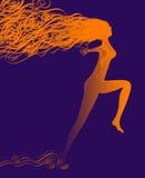 Uma mulher abstrata Ilustração do Vetor