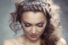 Uma mulher bonita Fotografia de Stock Royalty Free