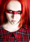 Uma mulher bonita com cabelo vermelho Fotografia de Stock Royalty Free