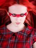 Uma mulher bonita com olhos de gato Fotos de Stock