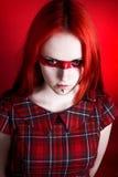 Uma mulher bonita com olhos de gato Fotografia de Stock