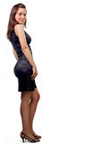 Uma mulher com o corpo 'sexy' isolado no branco Fotos de Stock
