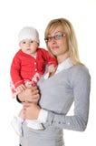 Uma mulher com uma criança. imagem de stock royalty free