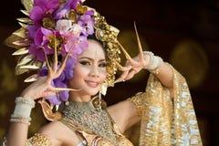 Uma mulher elegante ChiangMai Tailândia norte de Lanna Imagens de Stock