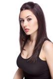 Uma mulher feminino 'sexy' isolada no branco Imagens de Stock