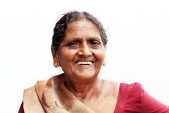 Uma mulher idosa asiática do close-up Foto de Stock Royalty Free