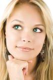 Uma mulher loura bonita imagens de stock royalty free