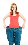 Uma mulher magro faz a boa dieta Foto de Stock Royalty Free