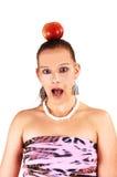 Uma mulher muito scared. imagem de stock
