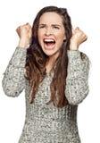 Uma mulher muito virada e irritada Fotos de Stock