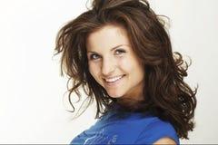 Uma mulher nova feliz imagens de stock royalty free