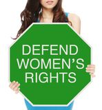 Defenda os direitos das mulheres foto de stock royalty free