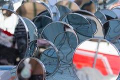 Uma multidão de espelhos Foto de Stock Royalty Free