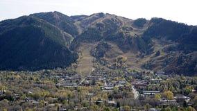 Uma negligência da cidade de Aspen Imagem de Stock