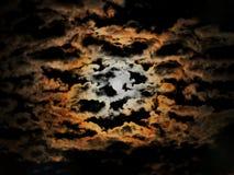 Uma noite bonita da Lua cheia fotografia de stock