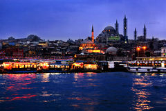 Uma noite de Istambul Imagens de Stock Royalty Free