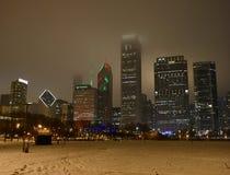 Uma noite de Natal nevoenta Fotografia de Stock Royalty Free