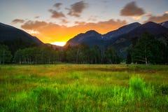 Uma noite do verão em Colorado Imagem de Stock