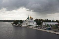 Uma noite está em Kostroma fotografia de stock royalty free