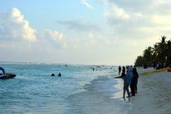 Uma noite na praia Imagem de Stock Royalty Free