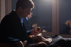 Uma noite romântica imagens de stock
