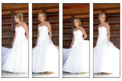 Uma noiva do casamento fotos de stock royalty free