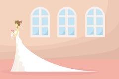 Uma noiva está esperando? ou está esperando o dia Fotos de Stock Royalty Free