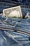Uma nota de banco do dólar Foto de Stock Royalty Free