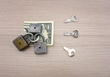 Uma nota de banco do dólar Imagens de Stock Royalty Free