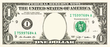 Uma nota de dólar Fotografia de Stock Royalty Free