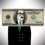 Uma nota de dólar 100 lunática Fotografia de Stock